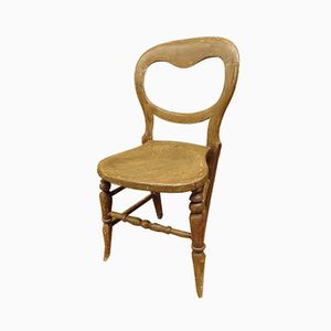 Antique Balloon Back Kitchen Chair