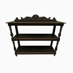 Antique Victorian Carved & Tiered Buffet