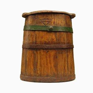 Antiker Holzbehälter für Butter oder Milch
