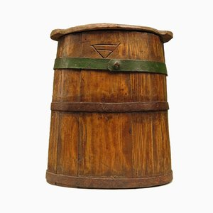 Antique Wooden Butter or Milk Churn