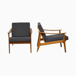 Mid-Century Scandinavian Lounge Chairs, 1960s, Set of 2