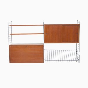 Mid-Century Shelving Unit by Strinning for String, 1960s