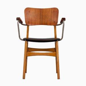 Chaise de Bureau Mid-Century Moderne en Teck, Danemark, 1960s
