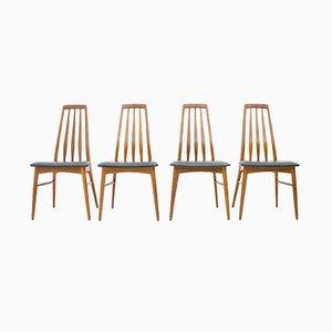 Dänische Mid-Century Esszimmerstühle von Niels Koefoed, 1960er, 4er Set