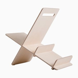 Debook Birch Magazine Rack by Debosc