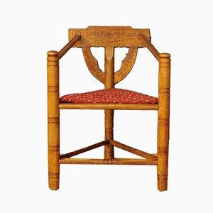 Sedia ad angolo Arts & Crafts vintage