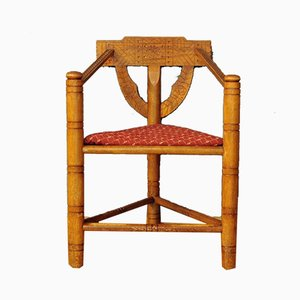 Vintage Arts and Crafts Corner Chair
