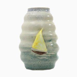 Vaso in ceramica di Casa dell'arte di Albisola, anni '30