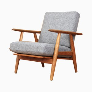 GE240 Oak Cigar Lounge Chair by Hans Wegner for Getama, 1955