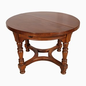 Round Antique Walnut Extendable Table from Ebanisteria di Bassano, 1800s