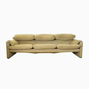 Maralunga 3-Sitzer Sofa von Vico Magistretti für Cassina, 1970er