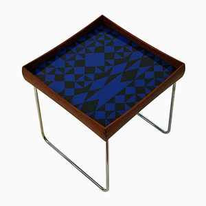 Conform Tray Table with Enamel Top by Hermann Bongard for Plus - Norway Designs, 1962
