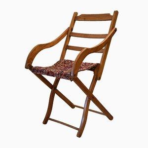 Antiker britischer Deckchair mit Teppichsitz für Oetzmann & Co.