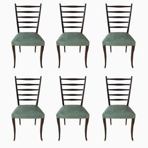 Vintage Esszimmerstühle von Gio Ponti, 1950er, 6er Set