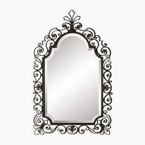 Espejo biselado de hierro forjado, años 50