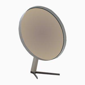 Runder Mid-Century Spiegel mit weißem Metallrahmen von Elliots of Newbury, 1960er