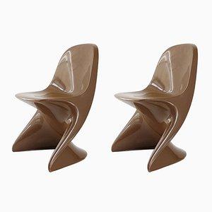 Space Age Casalino Stühle aus geformten Kunststoff von Alexander Begge für Casala, 1970er, 2er Set