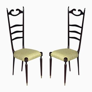 Mid-Century Italian Mahogany Chiavari Chairs, 1950s, Set of 2