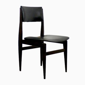 Leatherette Dining Chairs, 1960s, Set of 4