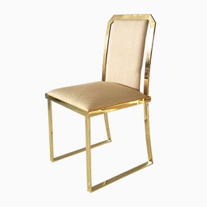 Brass Dining Chairs by Romeo Rega, 1960s, Set of 4