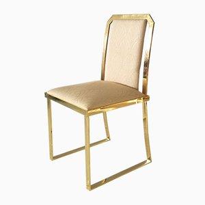 Esszimmerstühle aus Messing von Romeo Rega, 1960er, 4er Set