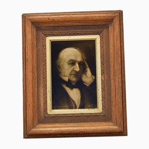 Antikes britisches Keramikbild von William Gladstone von George Cartlidge für Sherwin & Cotton, 1898