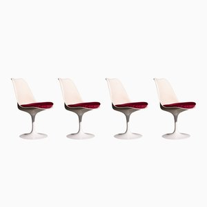 Chaise Tulipes Mid-Century par Eero Saarinen pour Knoll International, Set de 4