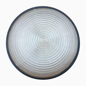 Lámpara de techo de vidrio modelado, años 50
