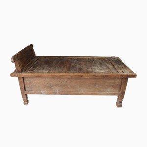 Antikes Tagesbett aus Hartholz