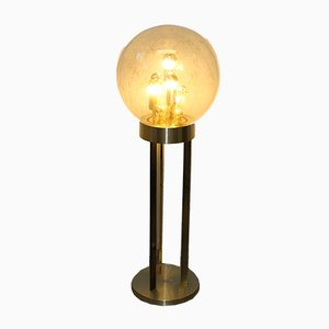 Brass & Glass Globe Floor Lamp from Doria Leuchten, 1970s