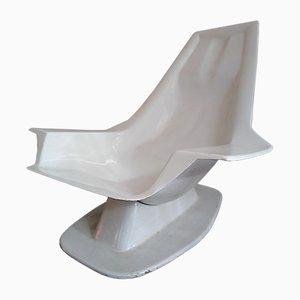 Chaise d'Appoint Pool en Fibre de Verre par Charles Zublena pour Les Plastiques De Bourgogne, 1960s