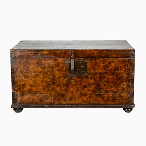 19th-Century Italian Solid Wood Trunk
