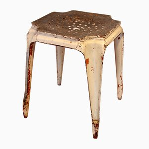 Vintage French Stool by Joseph Mathieu for Multipl's, 1920s