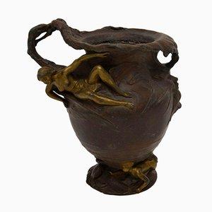 Antike Jugendstil Urne aus Bronze