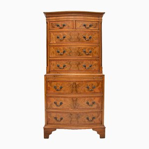 Vintage Burr Walnut Chest on Chest
