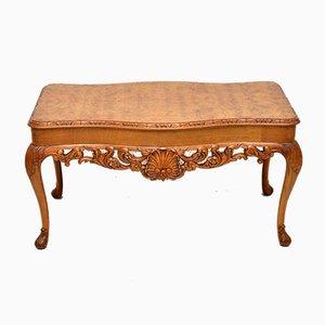 Table Basse Vintage en Loupe de Noyer