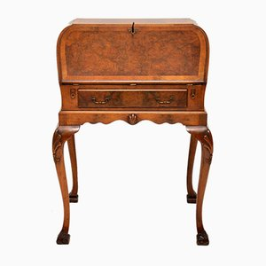 Vintage Burr Walnut Writing Bureau on Legs
