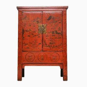 Antiker lackierter chinesischer Hochzeitsschrank