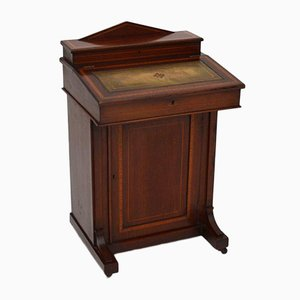 Antique Edwardian Inlaid Mahogany Davenport Desk