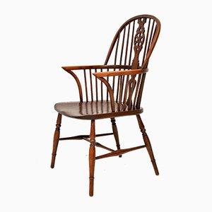 Antiker Spindle-Back Windsor Armlehnstuhl aus Ulmenholz