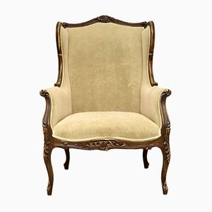 Antique French Painted Wing Armchair