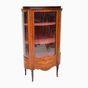 Vintage French Inlaid Marquetry Display Cabinet