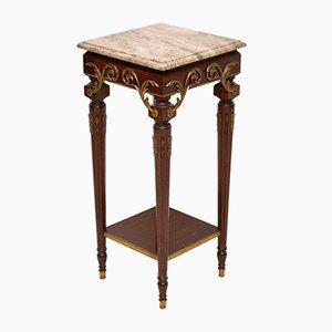 Table d'Appoint Antique avec Dessus en Marbre, France