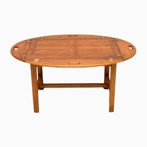 Vintage Georgian Style Yew Wood Butlers Tray Coffee Table