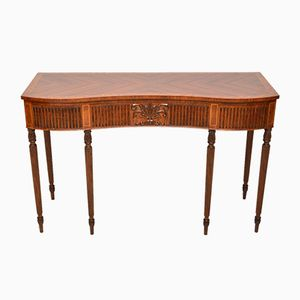 Vintage Inlaid Mahogany and Kingwood Server Console Table