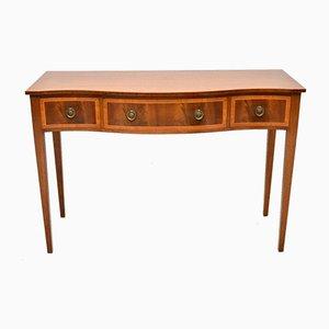 Table Console Vintage en Acajou Marqueté