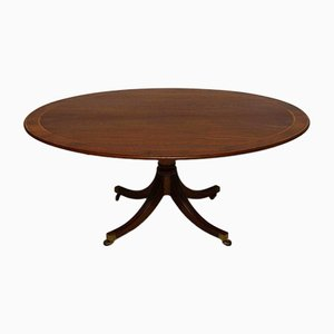 Vintage Inlaid Mahogany Dining Table by William Tillman