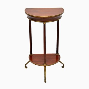Antique Mahogany and Brass Side Table