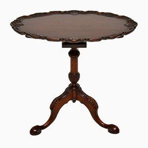Table d'Appoint Flip Top Vintage en Acajou