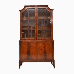 Vintage Mahogany Glazed Bookcase